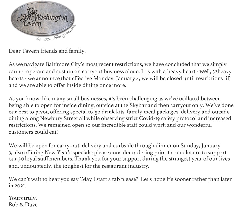 Message from Rob and Dave